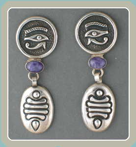 E321 - Charoite Eye of Horus- <font color=red><i>New</font></i>