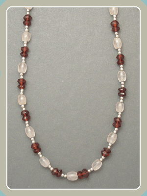 NE12 - Rose Quartz and Garnet <font color=red><i>NEW!</i></font>