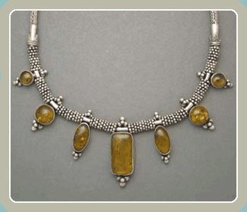 NE8 - Amber Silver Necklace <font color=red><i>NEW!</i></font>