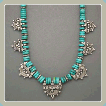NE9 - Turquoise With Silver Enhancers <font color=red><i>NEW!</i></font>