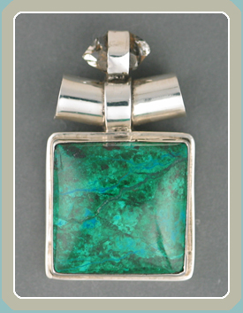 PE124 - Herkimer Diamond Chrysocolla - <font color=red><i>New</font></i>