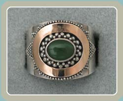 R142 - Jade with 18K Accent (9) - <font color=red><i>New!</font></i>