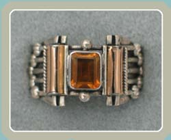 R169 - Citrine with 18K Accent (6) - <font color=red><i>New!</font></i>